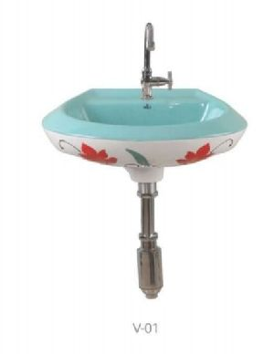V-01 Designer Wall Mounted Wash Basin