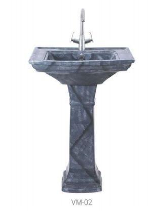 VM-02 Vintage Pedestal Wash Basin