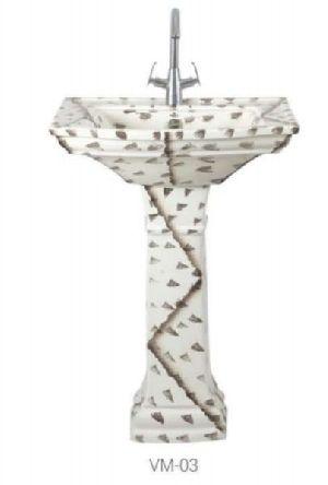 VM-03 Vintage Pedestal Wash Basin