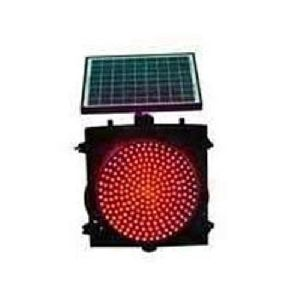 Red Solar Traffic Signal Lights