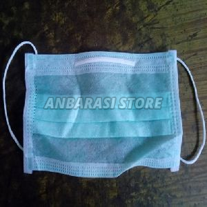 Green Disposable Non Woven Mask