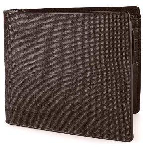 Mens Italian Dark Brown Leather Wallet