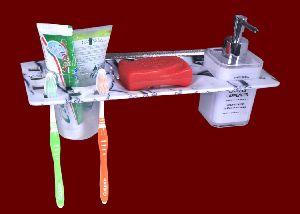 4 In Soap Dish Tumbler Holder