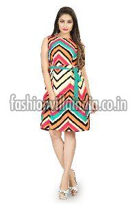 Zig Zag Striped Dress