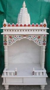 3 Feet White Marble Temple