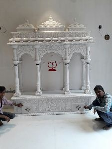 4.5 Feet White Marble Temple