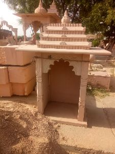 5 Feet Pink Stone Temple