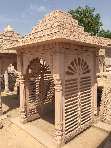 6 Feet Sandstone Temple