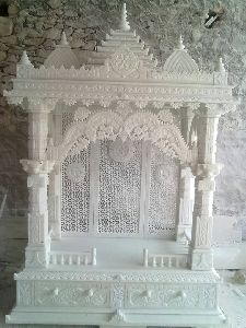 7 Feet White Marble Temple