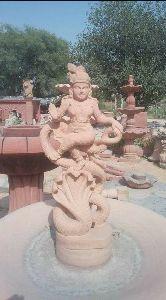 Sandstone Sheshnag Statue