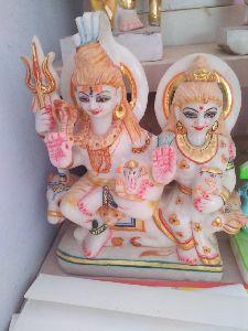 1.5 Feet White Marble Gori Shankar Statue