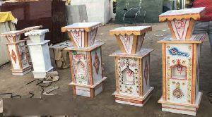 White Marble Tulsi Vase