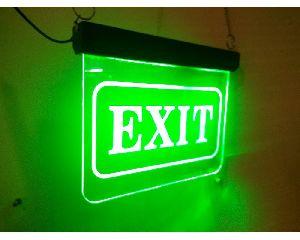 Exit LED Sign Board