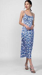 Floral Print Strappy Dress