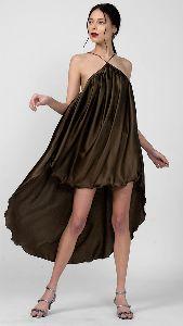 Satin High Low Dress