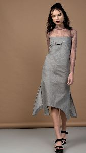 Grey Denim Dress