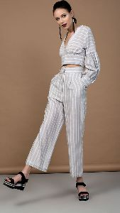 V Neck Crop Top and Pant