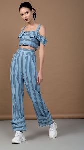 Cotton Strap Crop Top and Pants