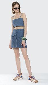 Crop Top and Short Skirt