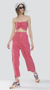 Pink Bandeau Top and Pant