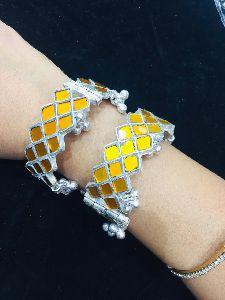 Afghani Silver Bangles Set