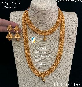 Golden Antique Necklace Combo Set