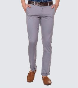 Cotton Stretch Mens Trousers