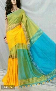 Fancy Traditional Khadi Saree