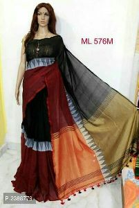Fancy Party Wear Khadi Saree