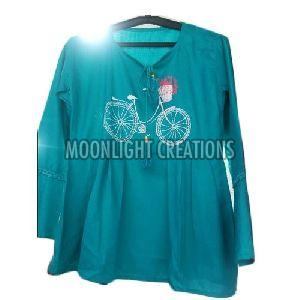 Ladies Chanderi Cotton Top