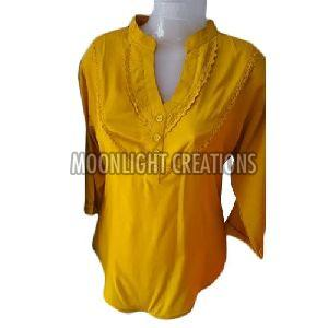 Ladies Yellow Cotton Top