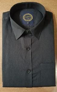 Mens Black Cotton Shirt