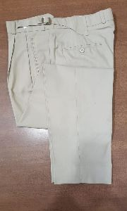 Mens White Formal Trouser