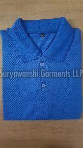 Mens Blue Polo T Shirt