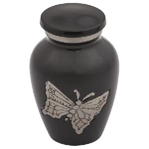 Classic Engraved Butterfly Keepsake Urn