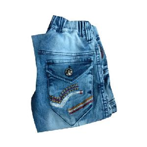 Kids Elastic Denim Jeans