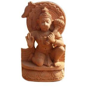 4.5 Feet Sandstone Hanuman Statue
