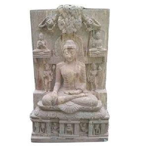 4 Feet Sandstone Buddha Statue