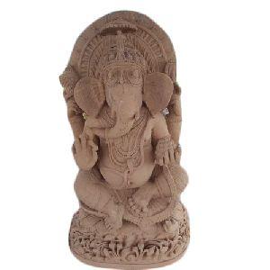 4 Feet Sandstone Ganesh Statue