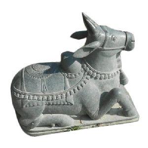 Granite Nandi Statue