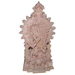 Pink Stone Natraj Khanja Statue