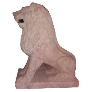 Sandstone Singha Statue