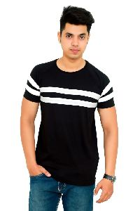 Mens Cotton Striped T Shirt