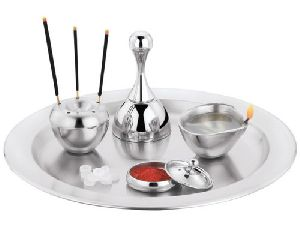 CJ-01 Stainless Steel Pooja Thali Set
