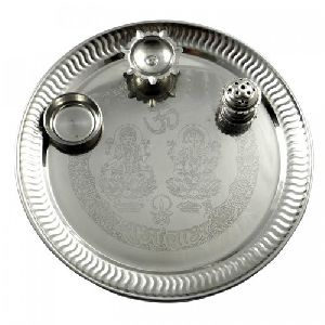 PS-01 Stainless Steel Pooja Thali Set