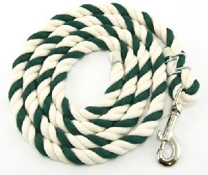 Cotton Lead Rope Green and White