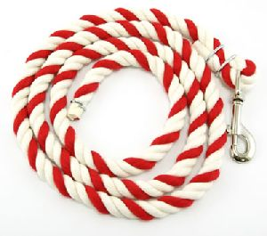 Cotton Lead Rope Red and White