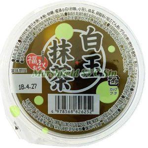 Marushin Matcha Jelly with Shiratama Dango & Azuki Beans