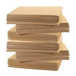 Brown Corrugated Cardboard Sheet
