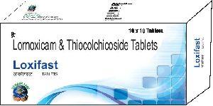 Lornoxicam & Thiocolchicoside Tablets